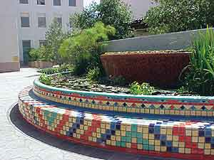 Tiled Pond at Los Angeles Metropolitan Water District